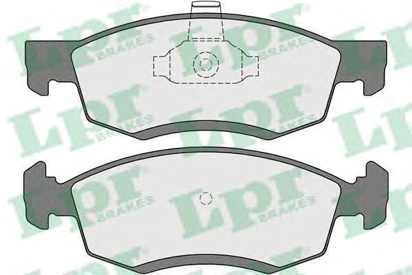 Колодки тормозные передние LPR / AP 05P165405P1654