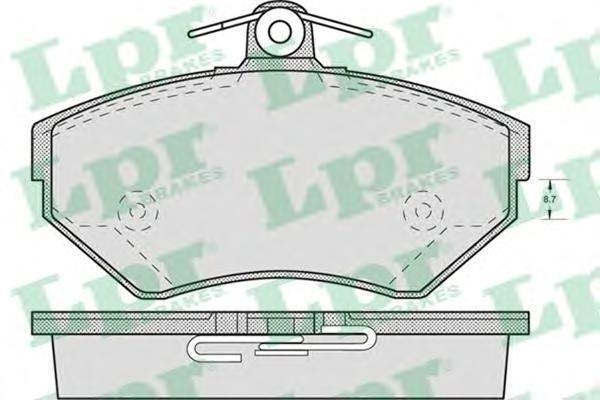 Колодки тормозные дисковые передние LPR / AP 05P71905P719