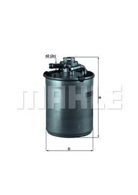 Топливный фильтр Mahle/Knecht KL497DKL497DФильтр топливный VW Mahle/Knecht. KL497D