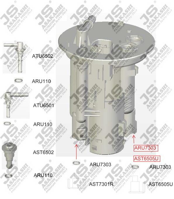 Топливный фильтр JS Asakashi FS6505UFS6505UФильтр топл JS JS Asakashi. FS6505U