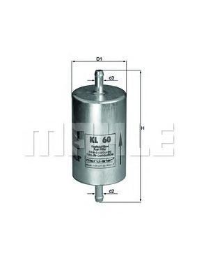 Фильтр топливный Mahle KL60KL60