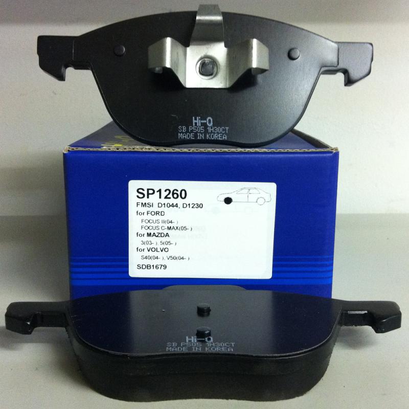 Тормозные колодки дисковые Sangsin SP1260SP1260Колодки тормозные передние FORD C-Max, F Sangsin. SP1260