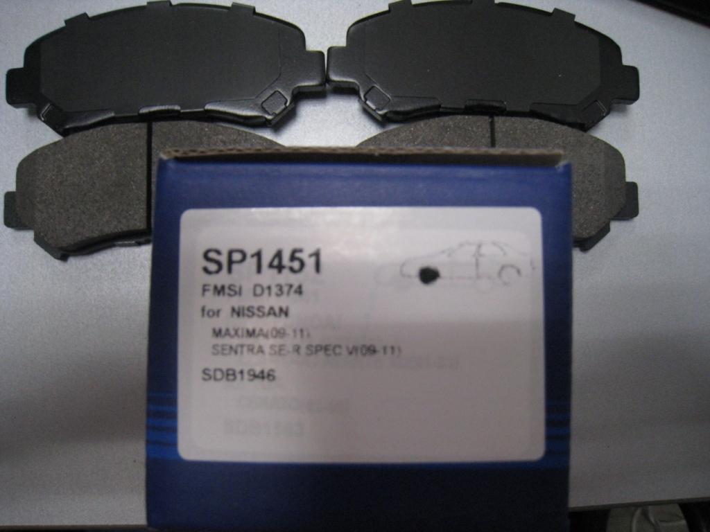 Тормозные колодки дисковые Sangsin SP1451 какой фирмы лучше тормозные колодки на мазду 6