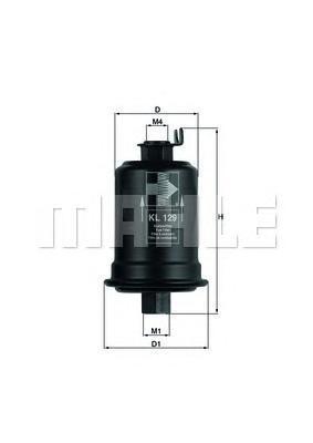 Топливный фильтр Mahle/Knecht KL129KL129Фильтр топливный MITSUBISHI/TOYOTA (158 л/с) >94 Mahle/Knecht. KL129