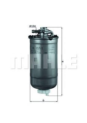 Топливный фильтр Mahle/Knecht KL1571DKL1571DФильтр топливный VW Polo, SKODA, Seat 1,4TDI-1,9TDI 02- Mahle/Knecht. KL1571D