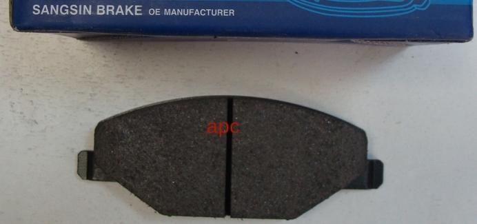 Тормозные колодки дисковые Sangsin SP1595SP1595Колодки тормозные передние Sangsin. SP1595