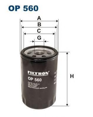 Масляный фильтр Filtron OP560OP560Фильтр маслянный Filtron. OP560