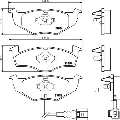 Тормозные колодки дисковые HELLA. 8DB3550098018DB355009801Тормозные колодки HELLA авто. 8DB355009801