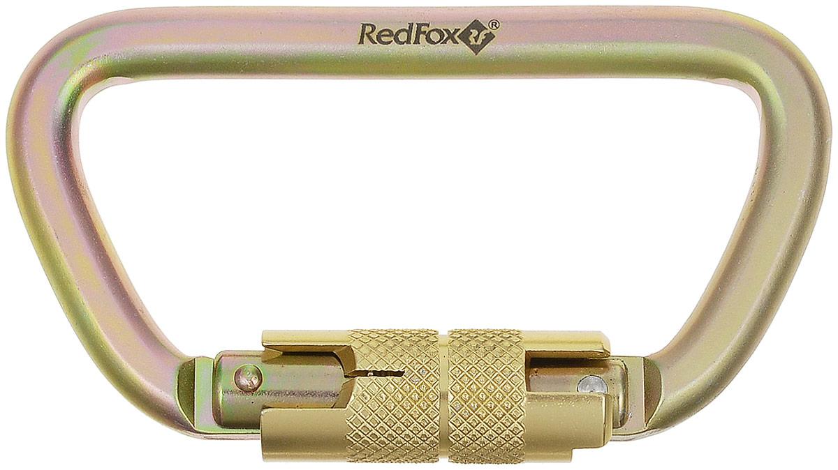 Карабин Red Fox 249-10115 Auto, цвет: золотой33529Карабин Red Fox 249-10115 Auto, изготовленный из прочной стали, с автоматической системой блокировки (металлическая муфта), открывается простым поворотом муфты. Стальные карабины Red Fox производятся для применения в промышленном производстве. Характеристики:Максимальная нагрузка по продольной оси: 50 kN. Ширина открытия защелки: 24 мм. Вес: 196 г. Длина: 115 мм. Сертификат CE, EN 1019, 362. В комплект к изделию входит: инструкция по использованию.
