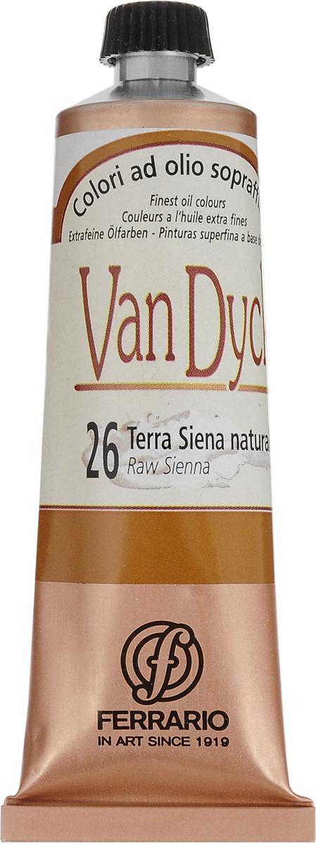 Ferrario Краска масляная Van Dyck цвет №26 сиена натуральная сержант полосатый серии 1 26