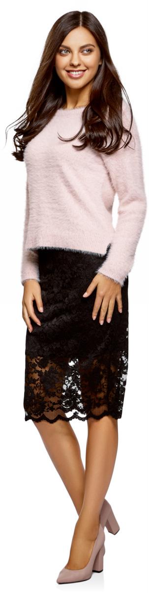 Юбка женская oodji Ultra, цвет: черный. 14101097/47365/2900N. Размер XXS (40)14101097/47365/2900N