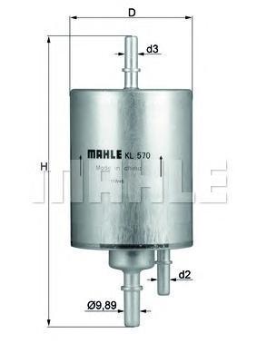 Фильтр топливный Mahle KL570KL570