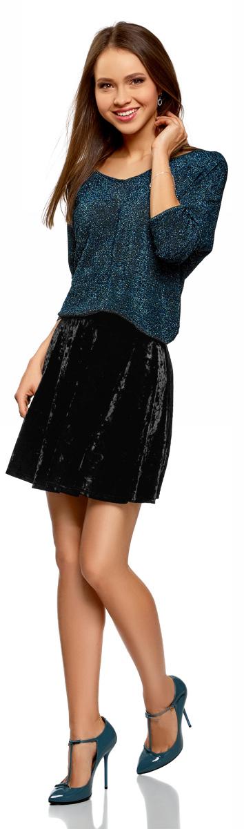 Юбка женская oodji Ultra, цвет: черный. 14102007/47508/2900N. Размер XXL (52)14102007/47508/2900N