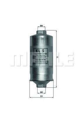 Топливный фильтр Mahle/Knecht KL5KL5[KL5] Knecht (Mahle Filter) Фильтр топливный Mahle/Knecht. KL5