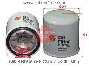 Масляный фильтр Sakura C1823C1823Фильтр масл. Sakura Sakura авто. C1823