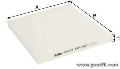 Салонный фильтр Goodwill AG570CFAG570CFФильтр салона 570 CF AG GW TOYOTA, Avensis, Corolla IX Goodwill. AG570CF