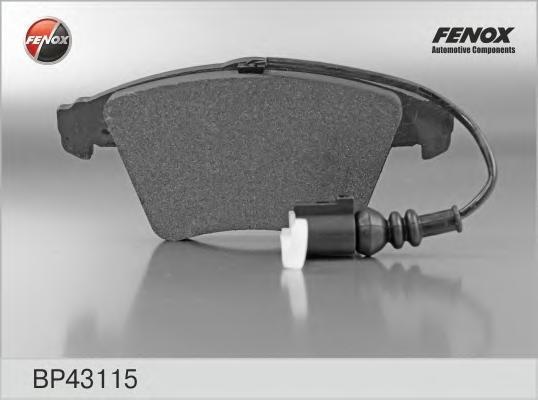 Тормозные колодки дисковые Fenox BP43115BP43115Колодки дисковые передние VW Multivan V 03-, Transporter V 03- [155,2*73,2*19,8 ATE syst.] Fenox. BP43115