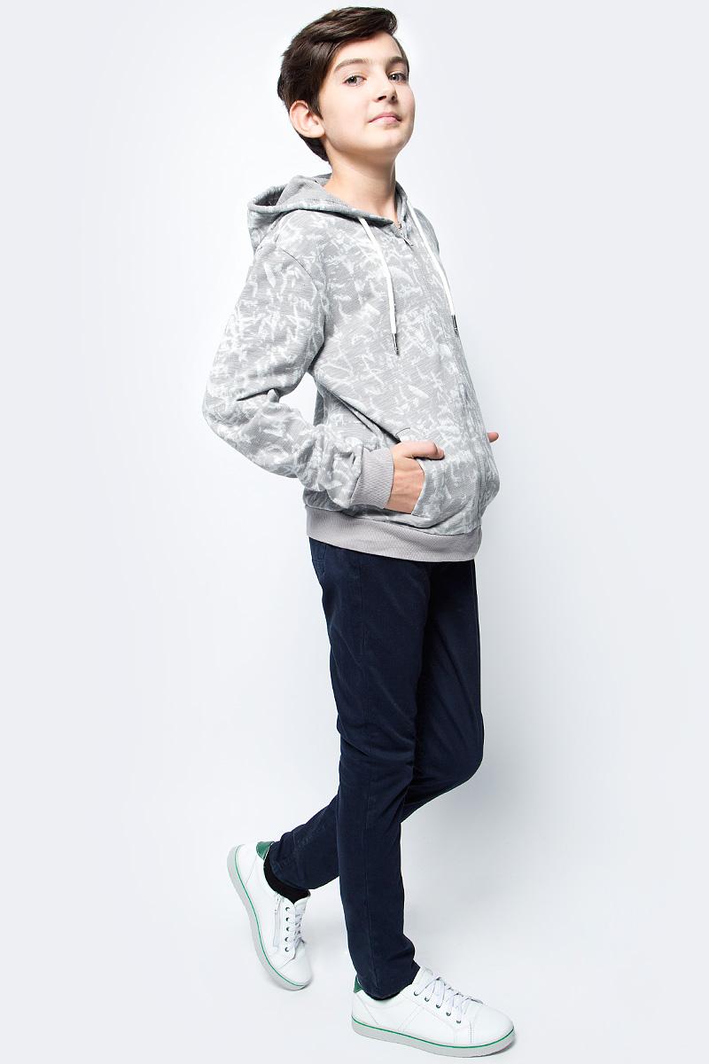 Толстовка для мальчика Vitacci, цвет: серый. 1172072-02. Размер 1641172072-02Любимая вещь в гардеробе любого мальчика - толстовка выполнена из высококачественного хлопка с добавлением полиэстера, что позволяет хорошо сохранять изделию цвет и форму в процессе носки.