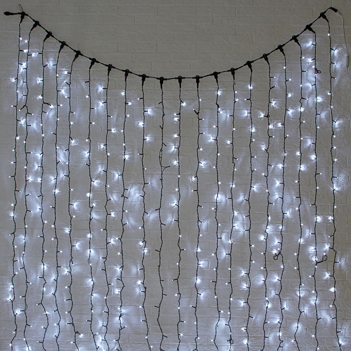 Гирлянда светодиодная Luazon Занавес, цвет: белый, уличная, 1440 ламп, 220 V, 2 х 6 м. 10802891080289Светодиодные гирлянды и ленты — это отличный вариант для новогоднего оформления интерьера или фасада. С их помощью помещение любого размера можно превратить в праздничный зал, а внешние элементы зданий, украшенные ими, мгновенно станут напоминать очертания сказочного дворца. Такие украшения создают ауру предвкушения чуда. Деревья, фасады, витрины, окна и арки будто специально созданы, чтобы вы украсили их светящимися нитями.Длина: 6 мШирина: 2 м