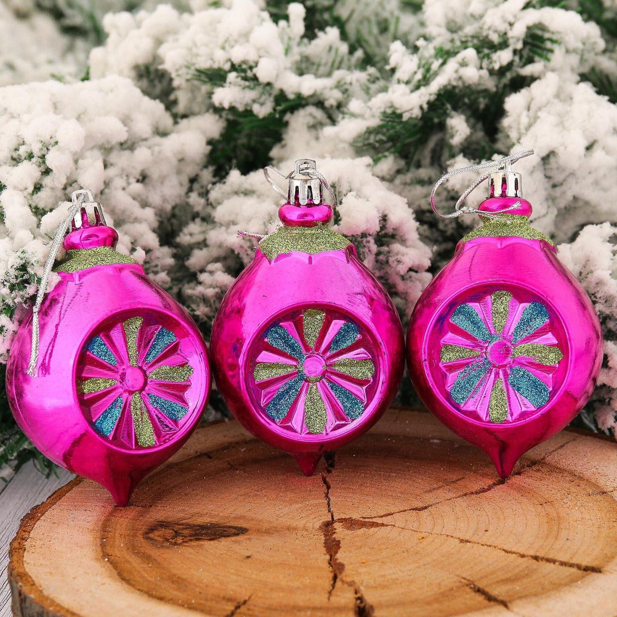 Набор новогодних подвесных украшений Луковица, 8,5 х 6 см, 6 шт2123100Набор новогодних подвесных украшений отлично подойдет для декорации вашего дома и новогодней ели. С помощью специальной петельки украшение можно повесить в любом понравившемся вам месте. Но, конечно, удачнее всего оно будет смотреться на праздничной елке.Елочная игрушка - символ Нового года. Она несет в себе волшебство и красоту праздника. Такое украшение создаст в вашем доме атмосферу праздника, веселья и радости.