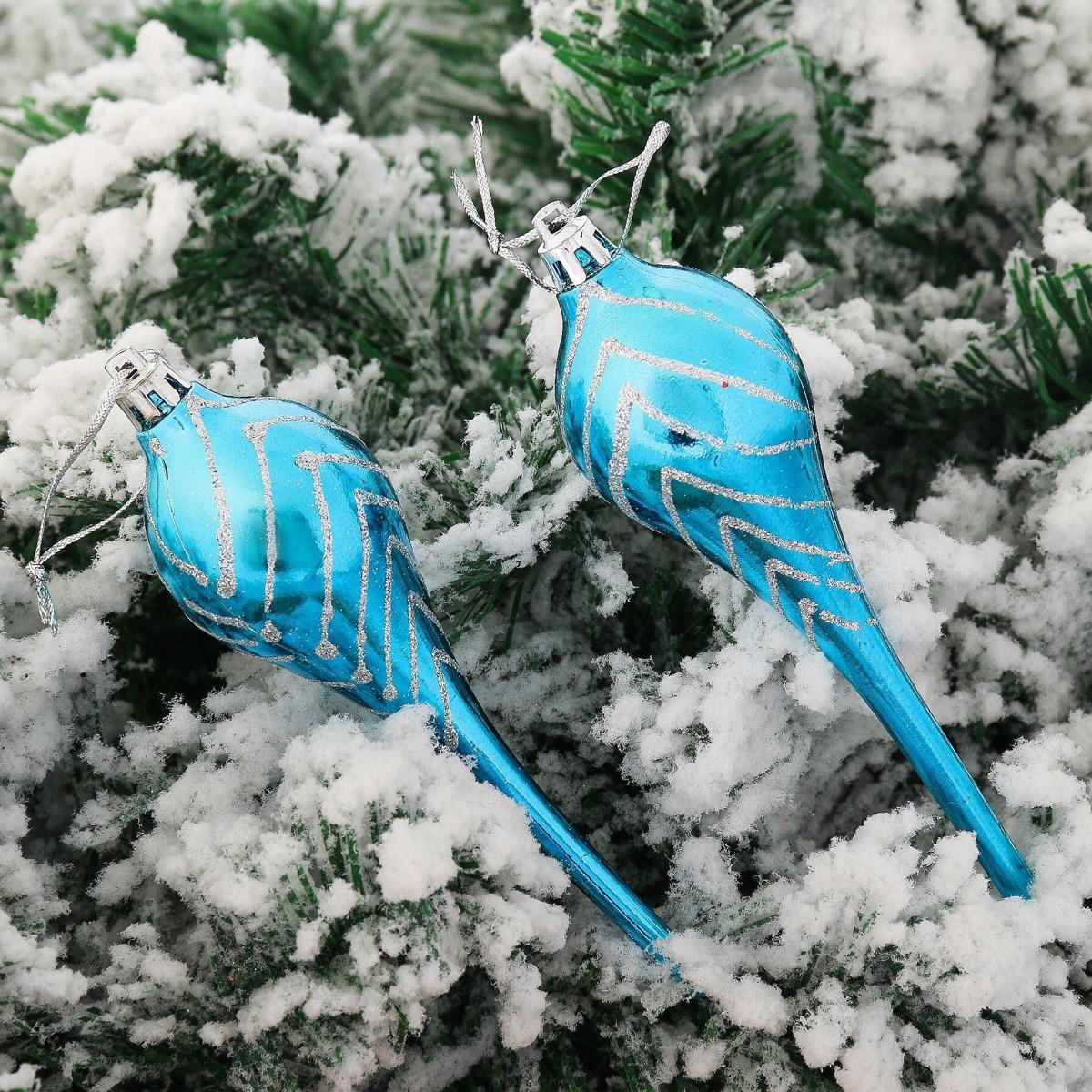 Набор новогодних подвесных украшений Сосульки, 14 х 4 см, 6 шт2123065Набор новогодних подвесных украшений отлично подойдет для декорации вашего дома и новогодней ели. С помощью специальной петельки украшение можно повесить в любом понравившемся вам месте. Но, конечно, удачнее всего оно будет смотреться на праздничной елке.Елочная игрушка - символ Нового года. Она несет в себе волшебство и красоту праздника. Такое украшение создаст в вашем доме атмосферу праздника, веселья и радости.