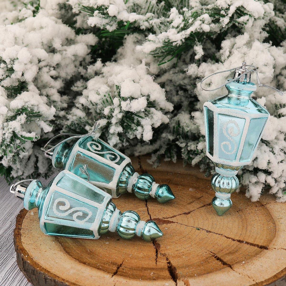 Набор новогодних подвесных украшений Фонарик, цвет: голубой, 9,5 х 4,5 см, 6 шт2123099Набор новогодних подвесных украшений отлично подойдет для декорации вашего дома и новогодней ели. С помощью специальной петельки украшение можно повесить в любом понравившемся вам месте. Но, конечно, удачнее всего оно будет смотреться на праздничной елке.Елочная игрушка - символ Нового года. Она несет в себе волшебство и красоту праздника. Такое украшение создаст в вашем доме атмосферу праздника, веселья и радости.