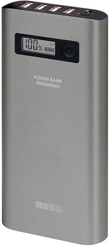 Interstep PB208004U внешний аккумулятор (20 800 мАч)IS-AK-PB208004U-000B201_1Power Bank - Внешний Аккумулятор interstep для зарядки смартфонов или планшетов, ёмкость батареи 20800 мАч.Внешний аккумулятор серии большая емкость - используя данный Power Bank, Вы сможете подзарядить свой смартфон до 8 раз.Поддержка сквозной заряд - внеш. аккумулятор заряжает, когда заряжается сам.Комплектность: внешний аккумулятор, кабель microUSB.Таким образом, данный внешний аккумулятор идеален для дальних поездок, выездов на природу или дачу.4 USB выхода позволяют заряжать сразу до четырех смартфонов.Цифровой дисплей показывает точный остаток заряда внешнего аккумулятора.Металлический корпус надежно защищает от царапин и не трескается в отличии от корпусов из пластика.