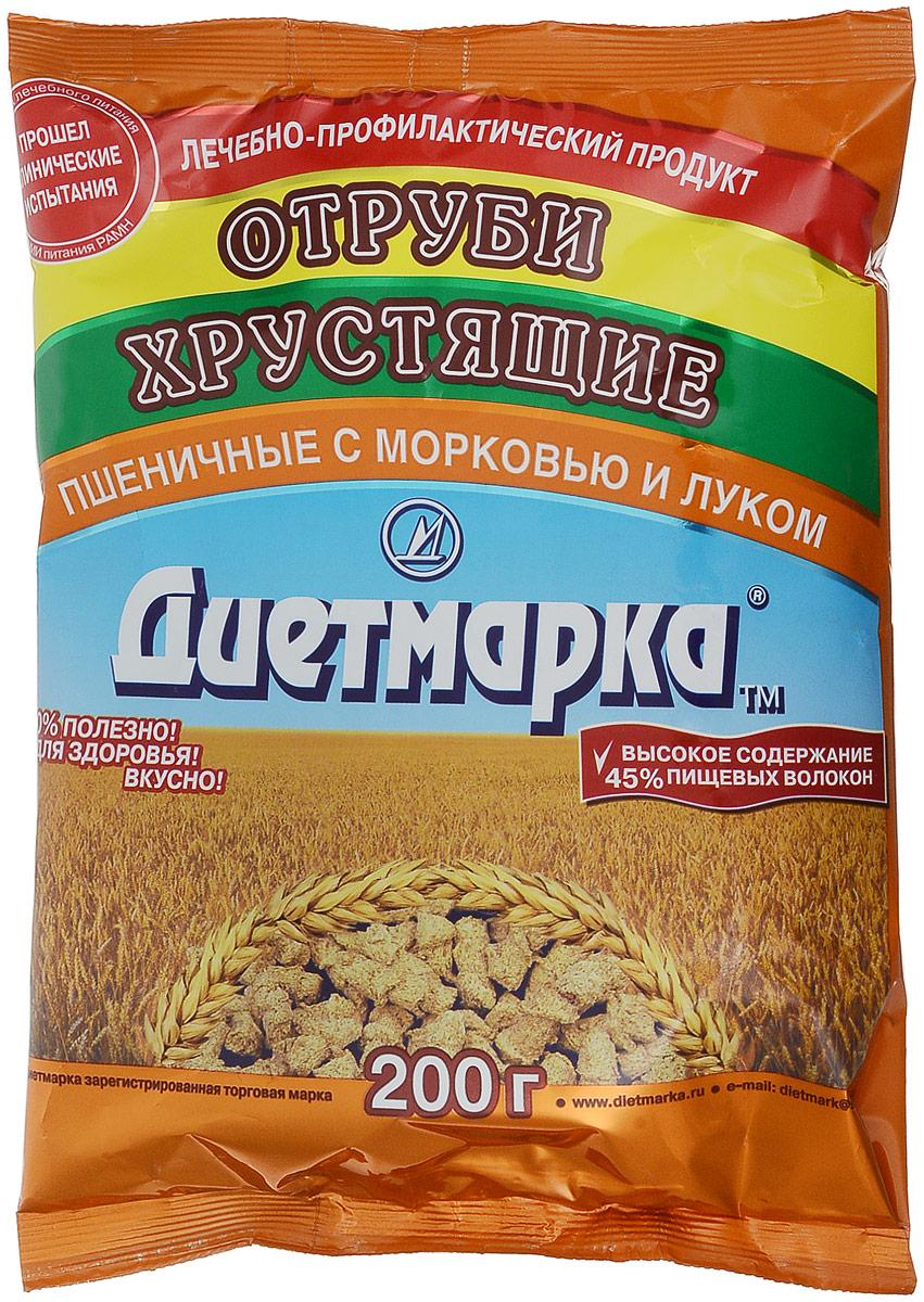 Диет Марка отруби хрустящие пшеничные лук и морковь, 200 г диадар отруби хрустящие ржаные бородинские 200 г