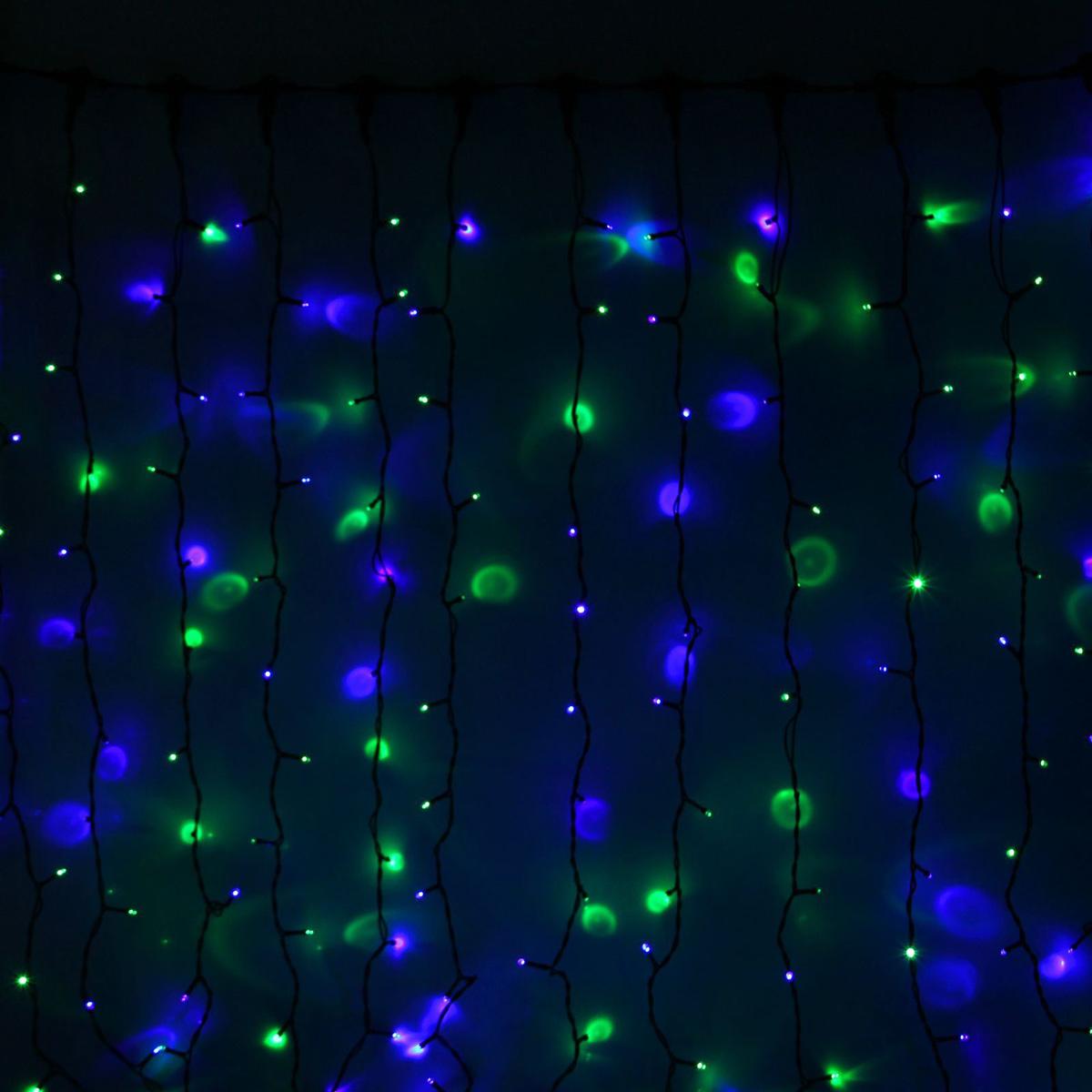 Гирлянда светодиодная Luazon Занавес, цвет: мультиколор, уличная, 1440 ламп, 220 V, 2 х 6 м. 10802851080285Гирлянда светодиодная Luazon Занавес - это отличный вариант для новогоднего оформления интерьера или фасада. С ее помощью помещение любого размера можно превратить в праздничный зал, а внешние элементы зданий, украшенные гирляндой, мгновенно станут напоминать очертания сказочного дворца. Такое украшение создаст ауру предвкушения чуда. Деревья, фасады, витрины, окна и арки будто специально созданы, чтобы вы украсили их светящимися нитями.