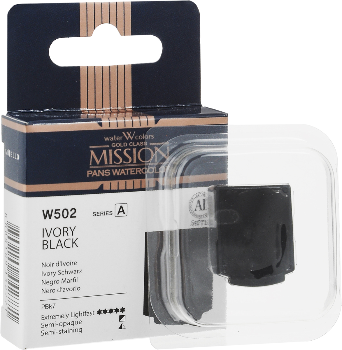 Mijello Акварель Mission Gold Pan W502 Кость жженая 2 мл MPW-W502