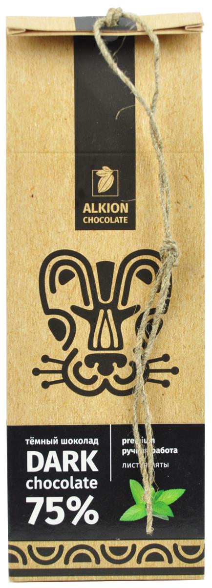 Alkion шоколад горький листья мяты, 100 г молочный шоколад alkion с ирисом и морской солью 33