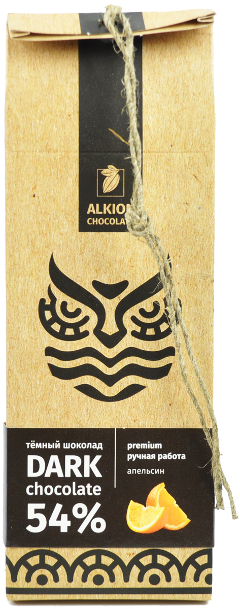 Alkion шоколад темный с кусочками апельсина, 100 г0082Плитка темного шоколада с ароматными кусочками засахаренных апельсинов.