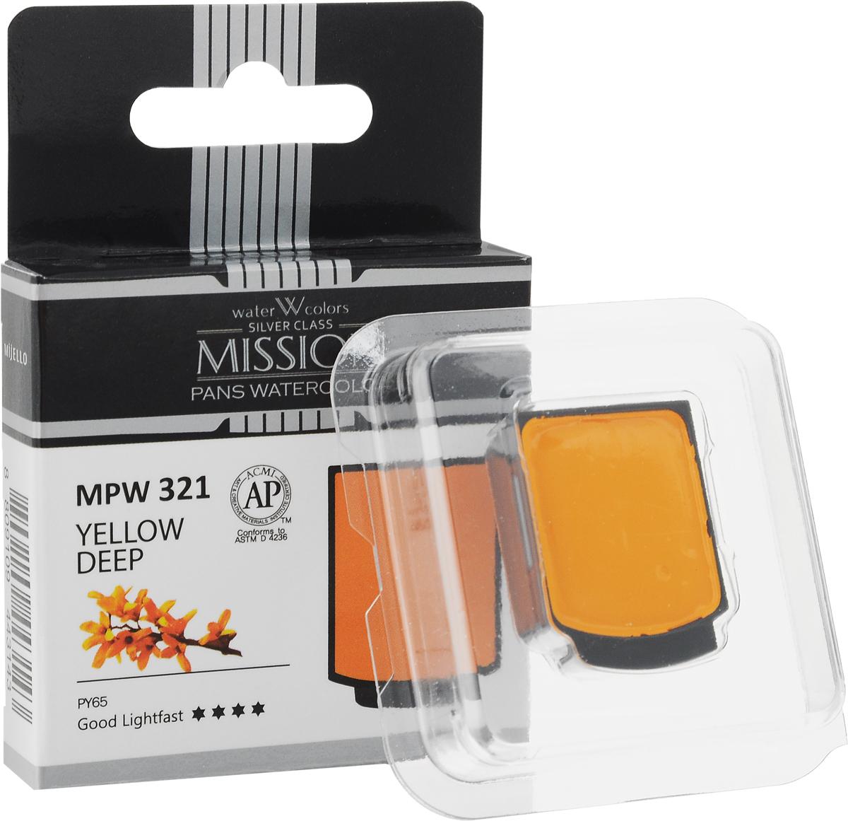 Mijello Акварель Mission Silver Pan 321 Желтый темный 2 мл MPW-321MWC-W568Серия акварельных красок Корейского производителя Mijello - Mission Silver это студийная серия красок. Эта серия акварели была создана компанией Mijello в сотрудничестве с экспертами в области акварельной живописи. В этой серии идеально сочетается цена и качество красок, что позволяет ей быть востребованной среди большого количества художников. Цвета акварели серии Mission Silver это смеси пигментов тонкого помола с высококачественными компонентами и гуммиарабиком. Эти краски предлагаются в кюветах. Максимальное количество цветов в этой серии - 24цв Используйте краски Mijello серии Mission Silver для акварельной живописи по мокрому, они идеально подойдут для подобной техники работы с акварелью. Акварель Mijello Mission White будет отличным выбором как начинающему художнику, так и профессионалу.