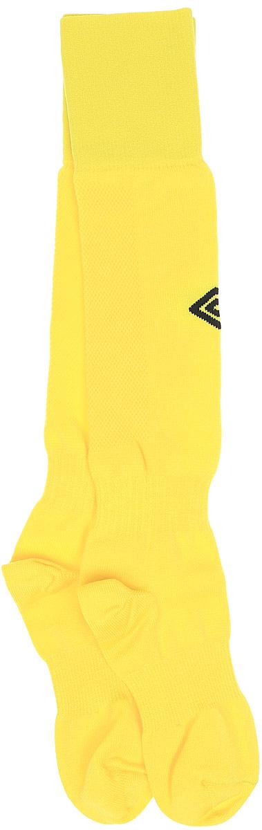 Гетры футбольные детские Umbro MenS Hose, цвет: желтый, черный. 140217. Размер Junior (универсальный)140217Гетры футбольные детские. Особая вывязка на задней части гетр способствует выведению влаги. Эргономичная кострукция носка.