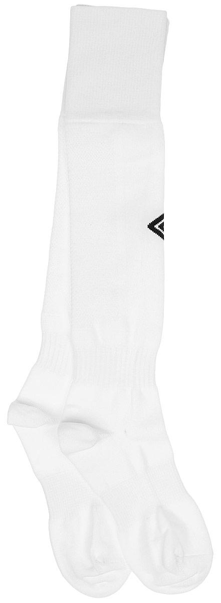 Гетры футбольные детские Umbro MenS Hose, цвет: белый, черный. 140217. Размер Junior (универсальный)140217Гетры футбольные детские. Особая вывязка на задней части гетр способствует выведению влаги. Эргономичная кострукция носка.
