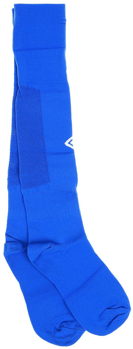 Гетры футбольные детские Umbro MenS Socks, цвет: синий, белый. 140214. Размер Junior (универсальный)140214Гетры футбольные детские. Особая вывязка на задней части гетр способствует выведению влаги. Эргономичная кострукция носка.