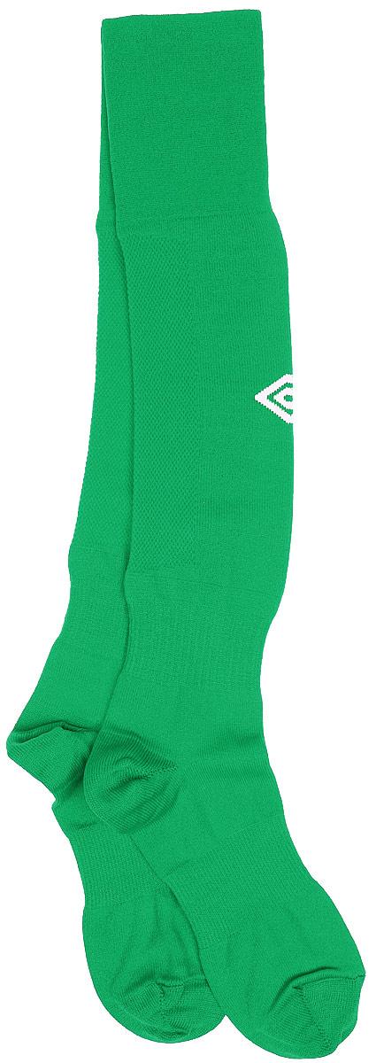 Гетры футбольные детские Umbro MenS Hose, цвет: зеленый, белый. 140217. Размер Junior (универсальный)140217Гетры футбольные детские. Особая вывязка на задней части гетр способствует выведению влаги. Эргономичная кострукция носка.