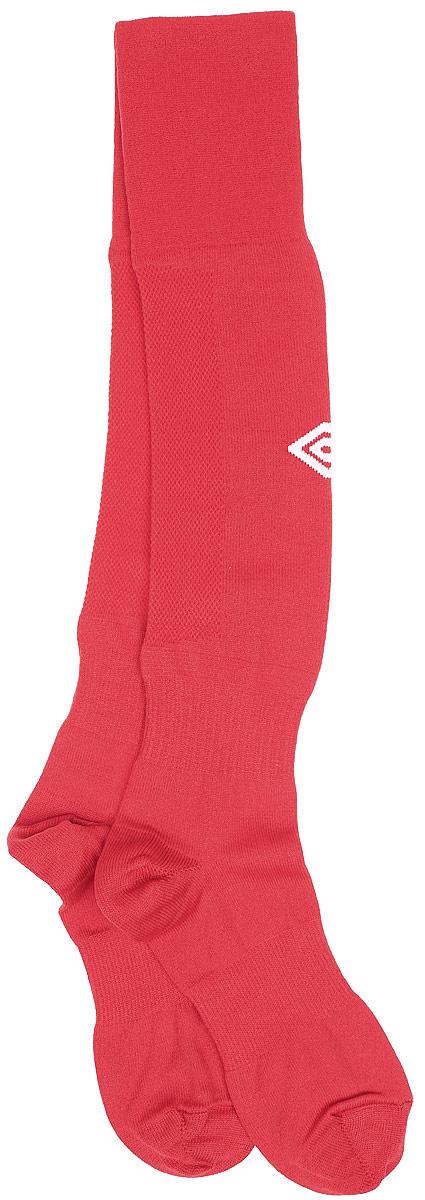 Гетры футбольные Umbro MenS Hose, цвет: красный, белый. 140217. Размер Senior (универсальный)140217Гетры футбольные для взрослых. Особая вывязка на задней части гетр способствует выведению влаги. Эргономичная кострукция носка.
