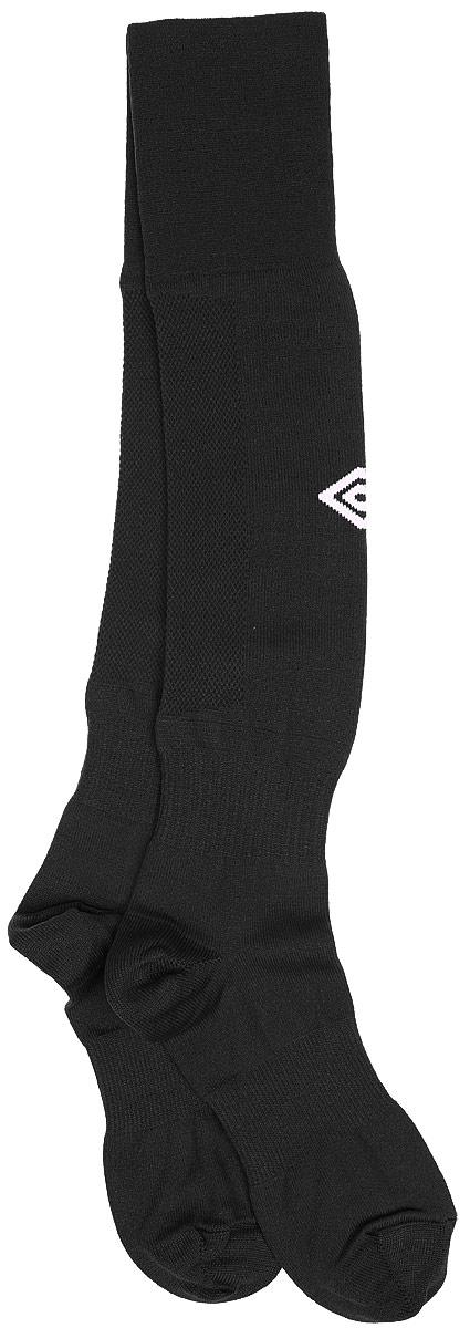 Гетры футбольные Umbro MenS Hose, цвет: черный, белый. 140217. Размер Senior (универсальный)140217Гетры футбольные для взрослых. Особая вывязка на задней части гетр способствует выведению влаги. Эргономичная кострукция носка.