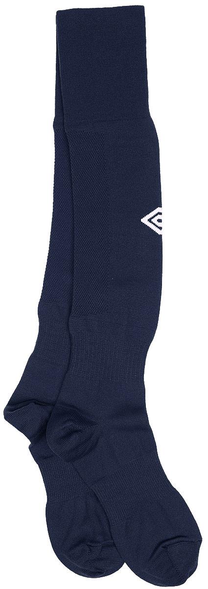 Гетры футбольные Umbro MenS Hose, цвет: темно-синий, белый. 140217. Размер Senior (универсальный)140217Гетры футбольные для взрослых. Особая вывязка на задней части гетр способствует выведению влаги. Эргономичная кострукция носка.