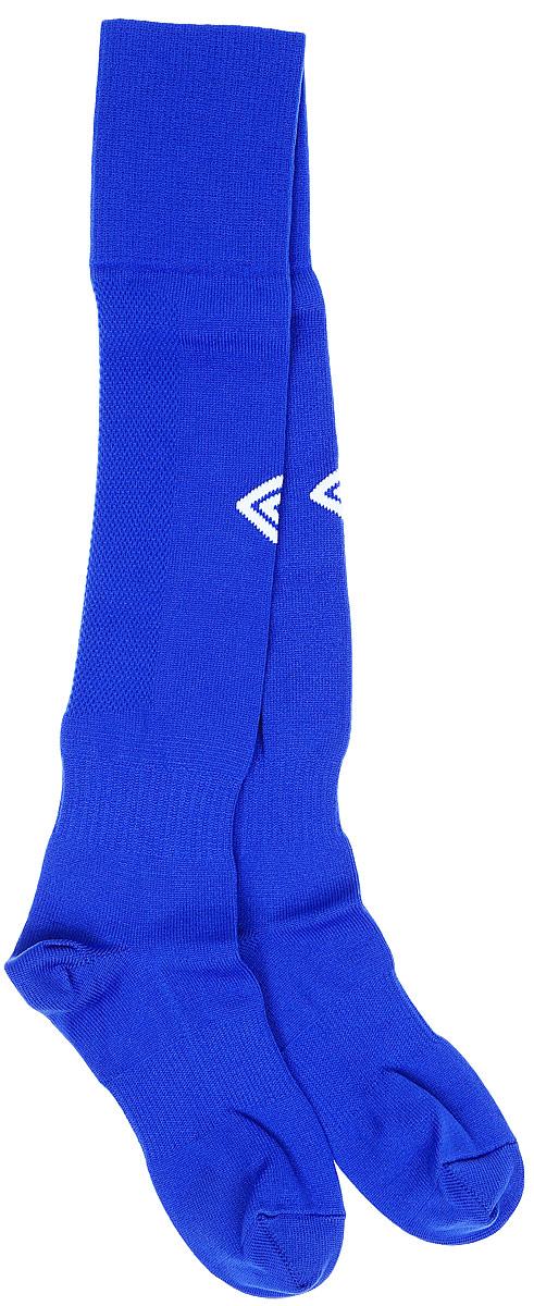 Гетры футбольные Umbro MenS Hose, цвет: синий, белый. 140217. Размер Senior (универсальный)140217Гетры футбольные для взрослых. Особая вывязка на задней части гетр способствует выведению влаги. Эргономичная кострукция носка.