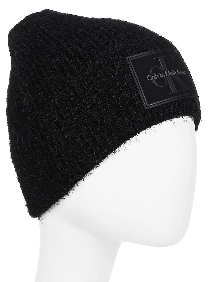 Шапка женская Calvin Klein Jeans, цвет: черный. K60K603732_001. Размер универсальныйK60K603732_001