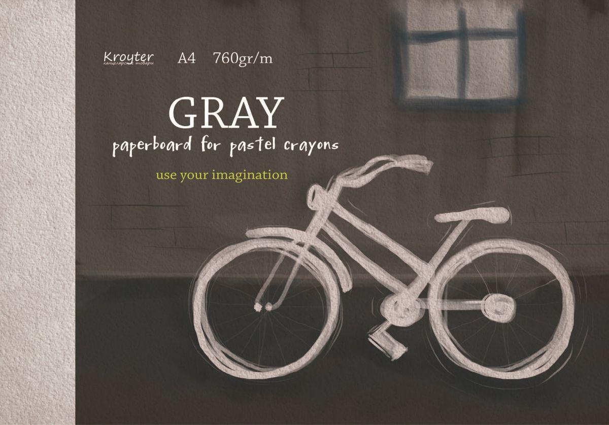 Kroyter Альбом для рисования пастелью цвет серый 10 листов159643Альбом для рисования пастелью Kroyter формата А4 состоит из 10 листов. Внутренний блок - тонированный картон серого цвета плотностью 760 г/м2. Обложка мелованный картон. Цветная печать.Тип скрепления - склейка.