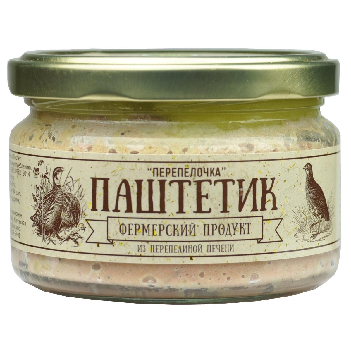 Фермерский продукт паштет перепелочка, 200 г паштет argeta из мяса индейки 95г