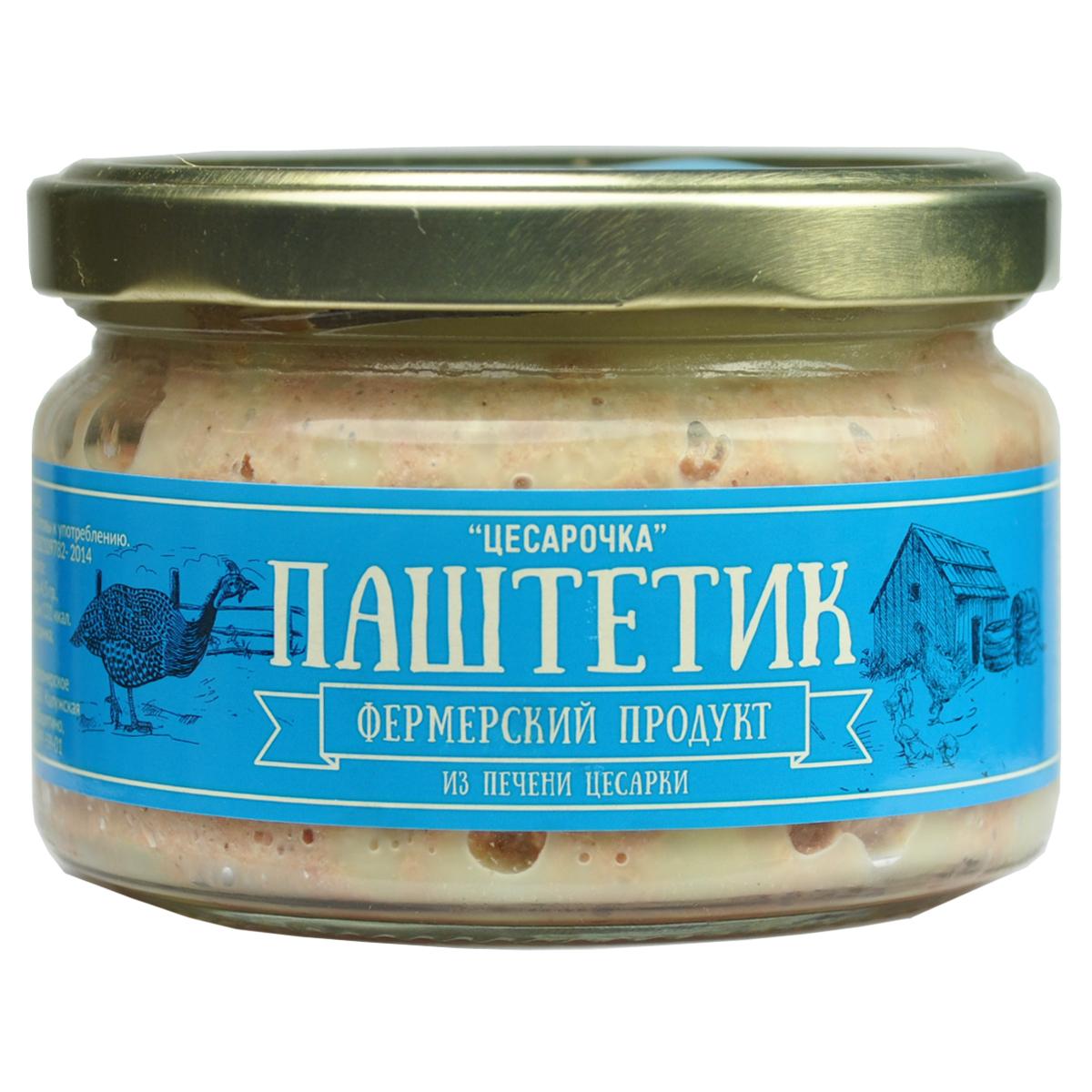Фермерский продукт паштет цесарочка, 200 г паштет argeta из мяса индейки 95г