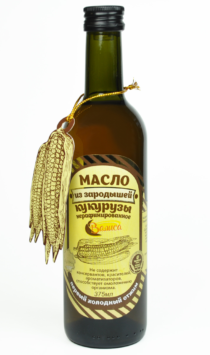 Валиса масло из зародышей кукурузы нерафинированное, 375 млБ0002182Масло не содержит консервантов, красителей, ароматизаторов, способствует омоложению организма. Большое содержание в масле витамина Е способствует защите организма от преждевременного старения.