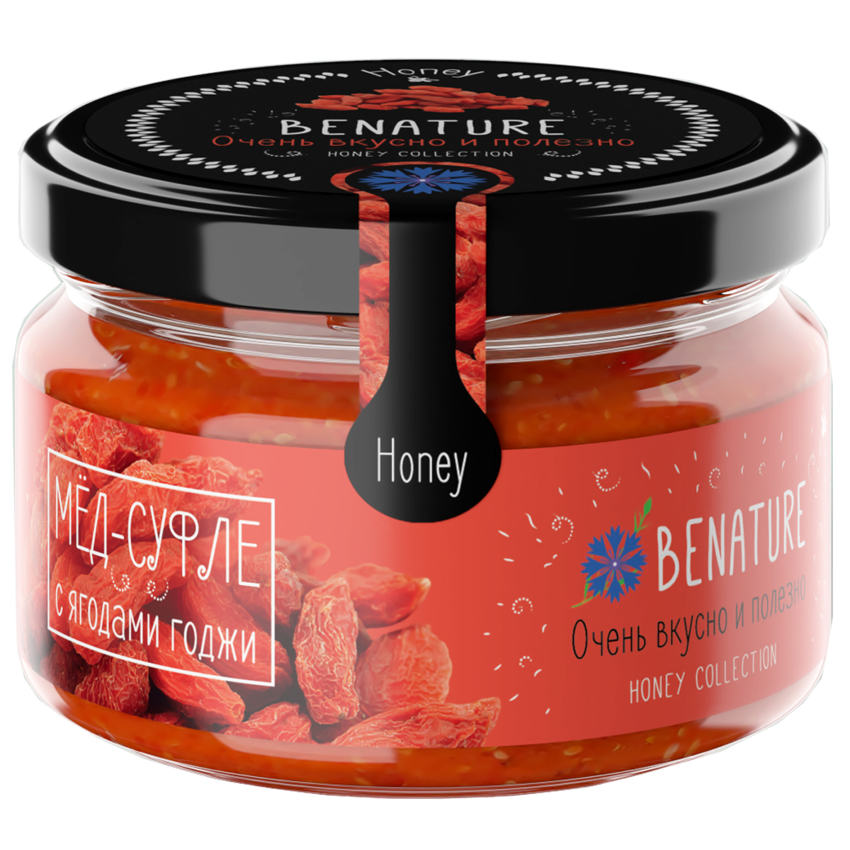 BeNature мед-суфле с ягодой годжи, 250 млБ0002387Издавна известно о полезных свойствах меда. Новые технологии позволяют получать чистый, натуральный продукт. Добавленные в мед натуральные ягоды и орехи, усиливают его полезные свойства, повышают благотворное воздействие на организм и подчеркивают новый, неповторимый вкус. Уникальный продукт для здоровья и долголетия с тонким приятным ароматом натуральных соков, сохраняющий все полезные свойства.Целебные сорта мёда. Статья OZON Гид