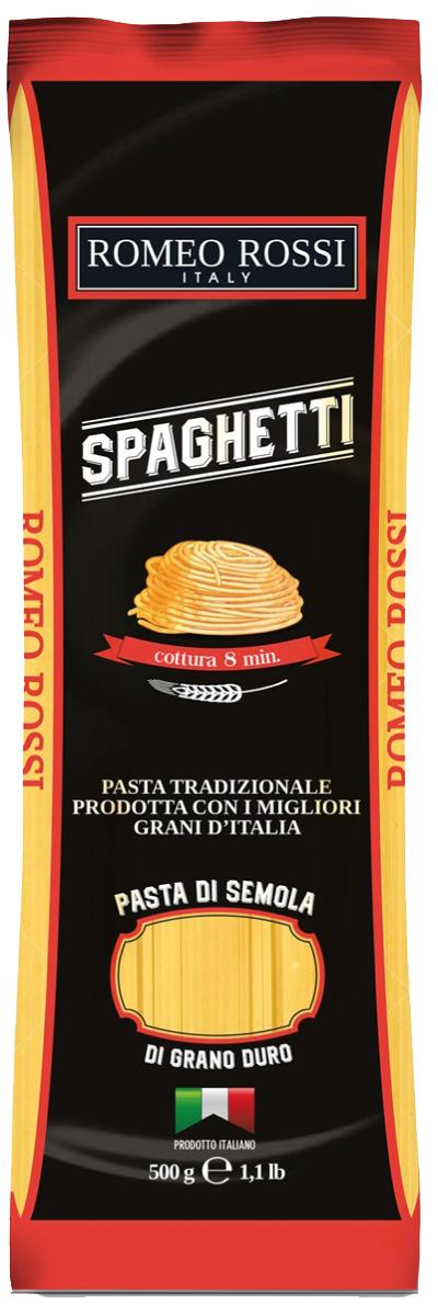Romeo Rossi паста сицилийская из муки твердых сортов спагетти, 500 г romeo rossi паста из муки твердых сортов феттучине 250 г