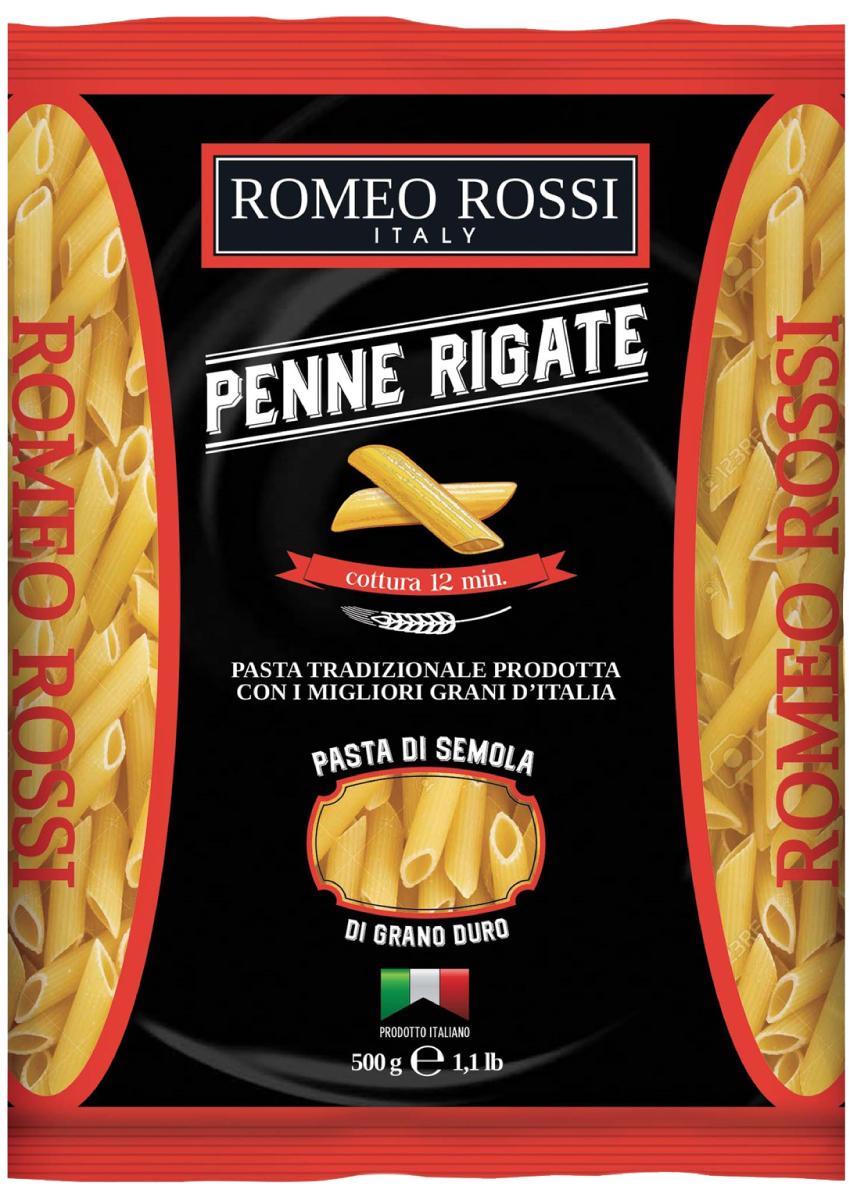 Romeo Rossi паста сицилийская из муки твердых сортов пенне, 500 г casa rinaldi паста пенне без глютена из кукурузной и рисовой муки 500 г