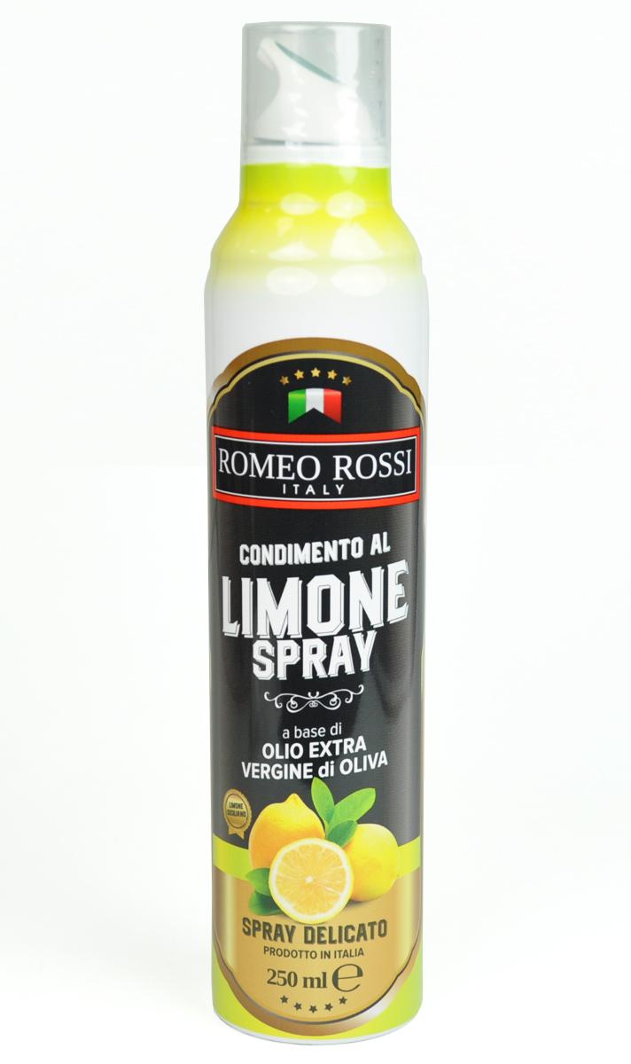 Romeo Rossi масло оливковое Extra Vergine спрей ароматизированное лимон, 250 млБ0002504Оливковые масла Италии традиционно славятся на весь мир. Говорят, именно в оливковых маслах кроется секрет долголетия жителей Средиземноморья. Масло с добавками, как правило, употребляют для придания дополнительного аромата горячим и холодным блюдам.